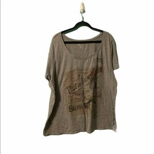 Lane Bryant Graphic Gray T-Shirt Size 26/28 Plus